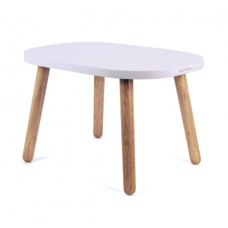 ma premiere table enfant design ovaline montessori bois massif rose
