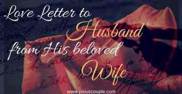 love letter husband from his beloved wife