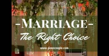 marriage-The Right Choice