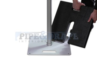Pipe and drape base weight