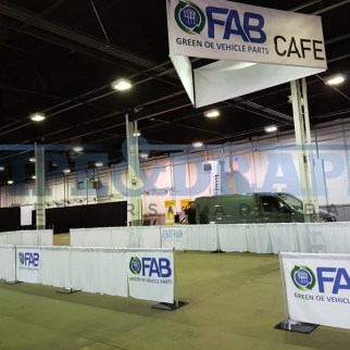 Exhibition Stand Building PIPE AND DRAPE 3FT WHITE PRINTED DRAPE