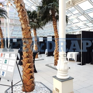 Exhibition Stand Building PIPE AND DRAPE BLACK EXPO STANDS 1