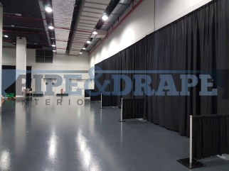 Exhibition Stand Building PIPE AND DRAPE BLACK EXPO STANDS 2