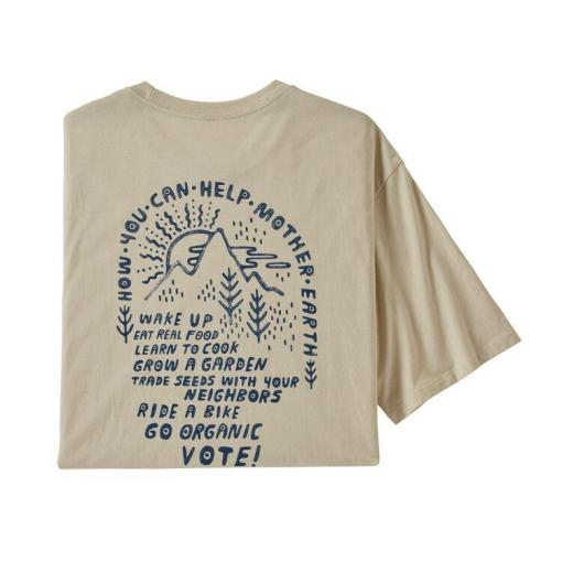Patagonia How To Help Organic Cotton T-Shirt Pumice PUM 38530