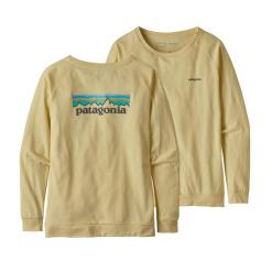Patagonia Long-Sleeved Pastel P-6 Logo Responsibili-Tee® Resin Yellow REYE