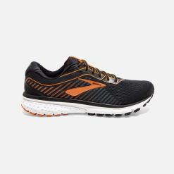 Brooks Ghost 12 Black / Turbulence / Orange 009