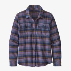 Patagonia Long-Sleeved Fjord Flannel Shirt Pistil: Hyssop Purple PHPU