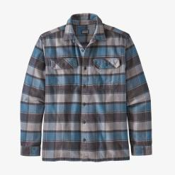 Patagonia Long-Sleeved Fjord Flannel Shirt Plots: Pigeon Blue PPBL