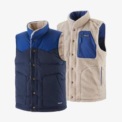 Patagonia Reversible Bivy Down Vest New Navy NENA