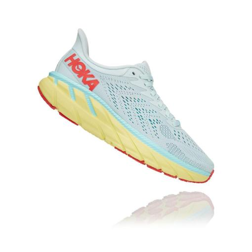 Hoka Clifton 7 Morning Mist/Hot Coral
