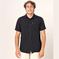Rip Curl New Ventura Shirt Washed Black