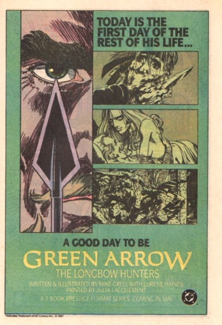 Green Arrow The Longbow Hunters ad