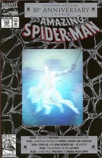 Amazing Spider-Man holographic cover from the 1990s