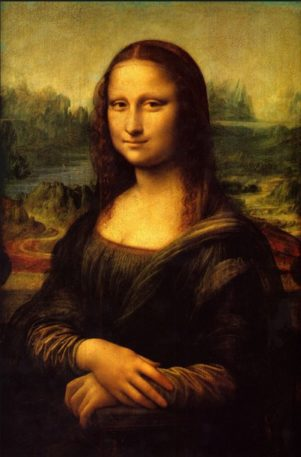 Mona Lisa has no visible feet