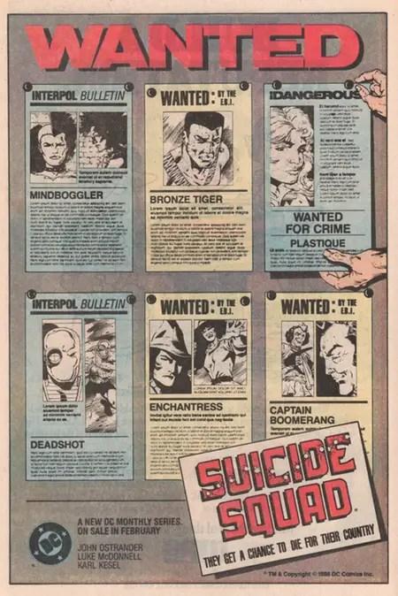 Suicide Squad ad DC Comics 1987