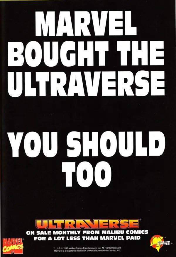 In 1995 the Ultraverse was cheaper than Malibu