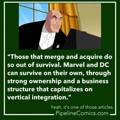 Lex Luthor explains mergers and acquisitions