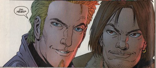 Steve Dillon draws a pair of Gen13 character about to get drunk.