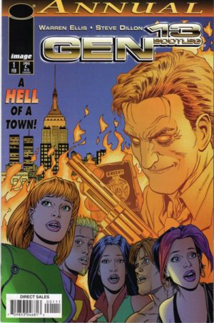 Steve Dillon draws a psychotic cop in New York City in the Gen13 Bootleg Annual
