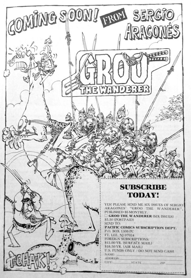 Ad for Groo #1 by Sergio Aragones