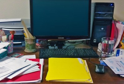 An editor's messy desk, perhaps