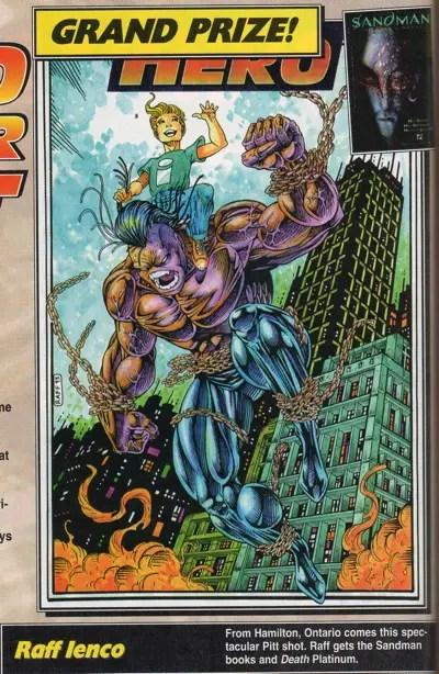 Raff Ienco draws Pitt in Hero Illustrated Magazine