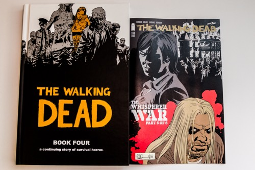 Walking Dead cover size comparison between comic and deluxe edition hc