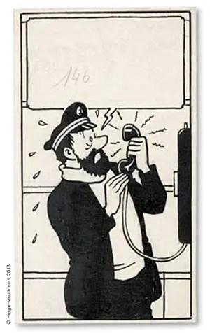 Herge Tintin panel