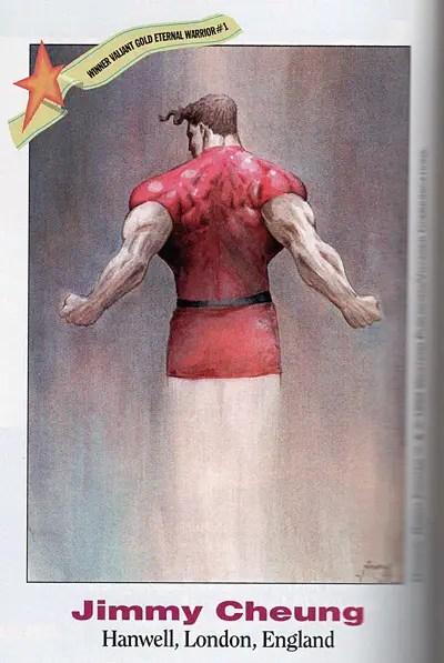 Jim Cheung Valiant fan art from Wizard Magazine #20 in 1993