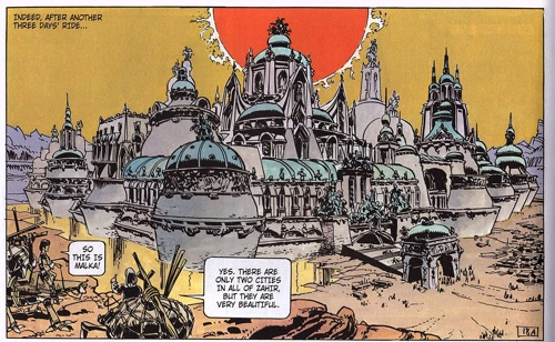 The manly city of Malka, as seen in the third Valerian and Josephine book.