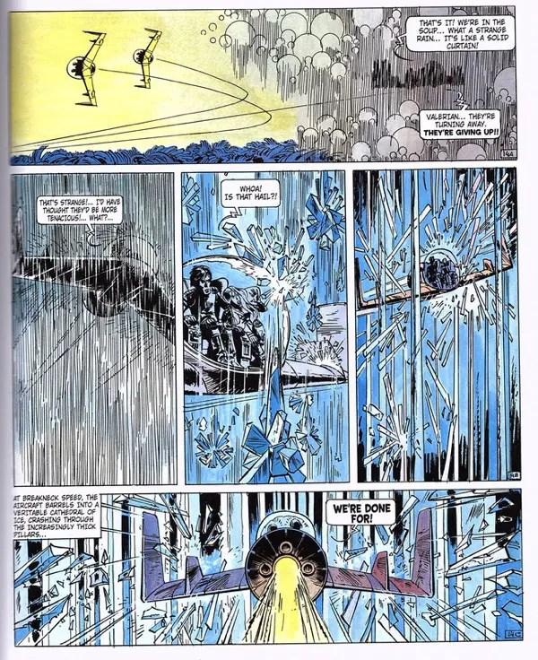 Valerian ships pass through an ice cavern
