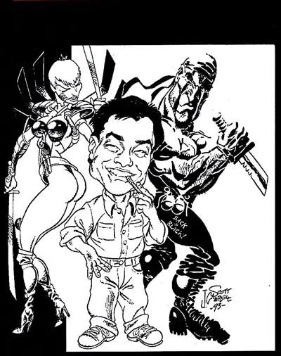J. Scott Campbell draws Jim Lee