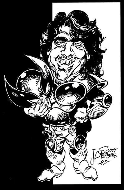 J. Scott Campbell draws Jim Valentino