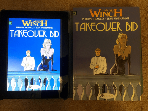 Largo Winch in print versus iPad