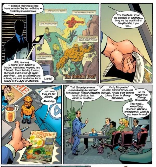 Fantastic Four - man tosses comic book aside