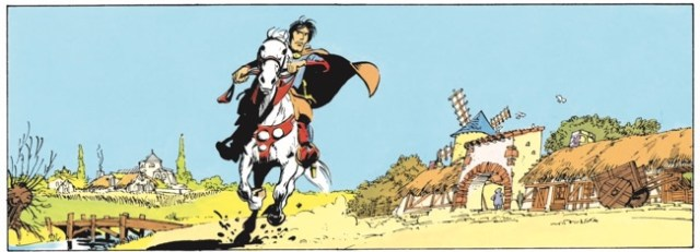 Valerian makes his entrance in France looking like Prince Valiant