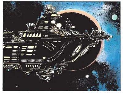 Jean Claude Mezieres designs a space cruise ship