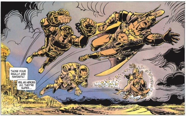 In Valerian v8, Pierre Christin goes for a superhero comic