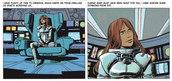 Laureline is thinking to Valerian in this scene, which reads like she's writing him a letter.
