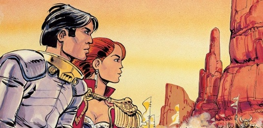 Valerian and Laureline v14 The Living Weapons cover detail by Jean Claude Mezieres