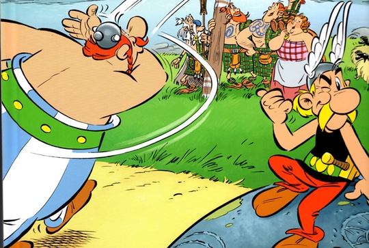 Albert Uderzo and Didier Conrad work together on Asterix and the Picts cover a