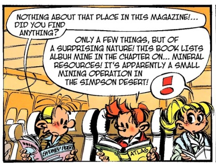 The lettering of Spirou and Fantasio
