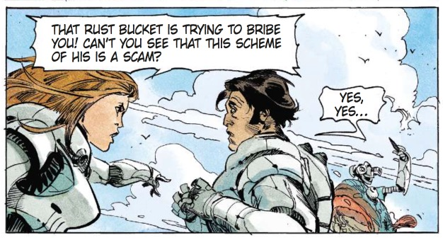 Laureline yells at Valerian