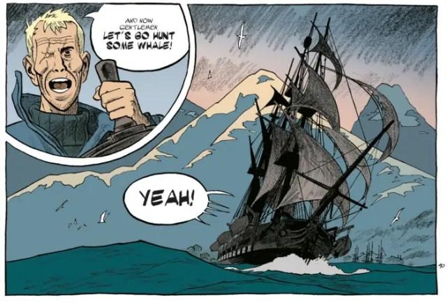 Esteban v1 by Matthieu Bonhomme - The Captain starts the whale hunt