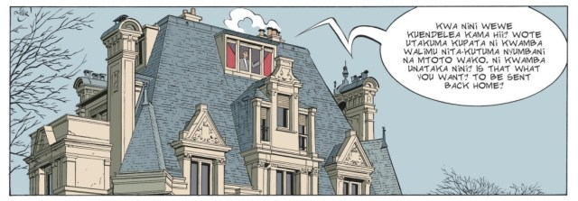 Adrian Dodier draws a mean building, with flat colors on top