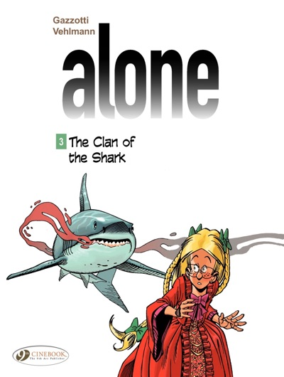 Alone v3 cover with the shark