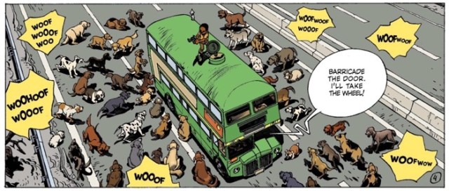 In Alone v3, rabid dogs mimic zombies when they attack the kids' bus