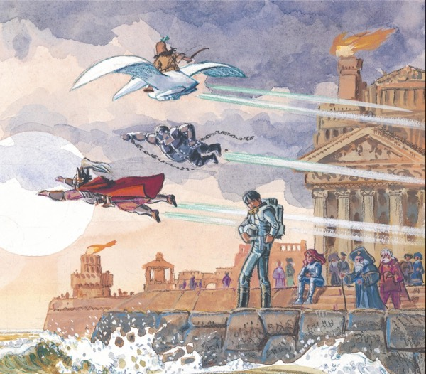Looking back at The Heroes of Equinox in Mezieres painted style