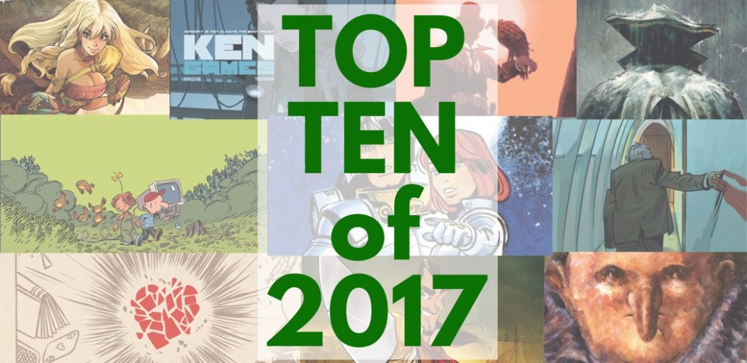 Top Ten Favorite European Franco-Belgian Comics of 2017 that I read and reviewed