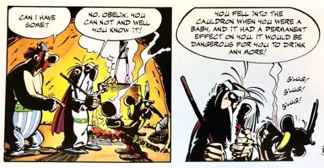 Getafix tells us the secret origins of Obelix